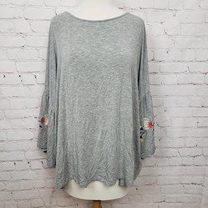 3/$18or5/$25 Skylar & Jade Peasant Bell Sleeve Top